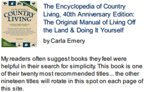 The Encyclopedia of Country Living front cover photo