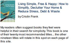 Living Simple, Free & Happy front cover photo