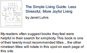 Simple Living Guide front cover photo