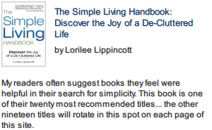 The Simple Living Handbook front cover photo