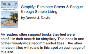Simplify and Eliminate Stress front cover photo