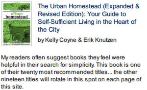 The Urban Homestead front cover photo