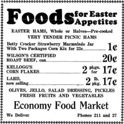 Kix cereal newspaper ad 4/11/1941