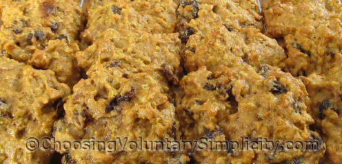 no-butter pumpkin oatmeal cookies