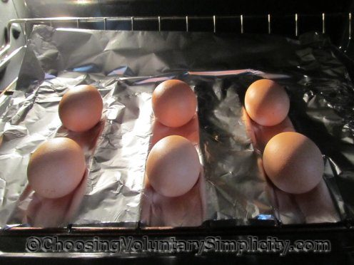 eggs baking in the oven